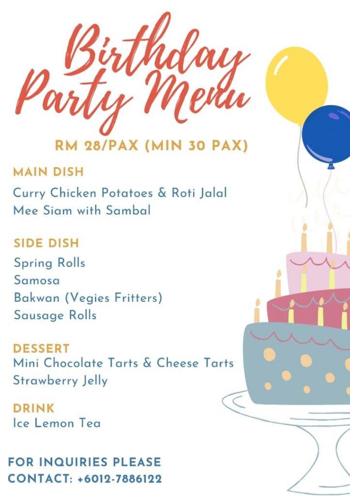 birthday catering kl
